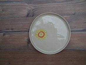Nádoby - Tanier dezert Malé slnko 21cm - 6445221_
