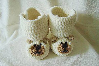 Topánočky - Plyšoví macovia- masloví :) - 6448034_