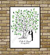 Svadobný strom K1 so siluetou 1
