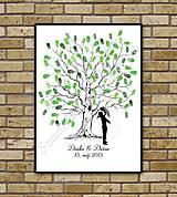Svadobný strom K1 so siluetou 2