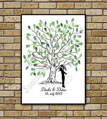 Darčeky pre svadobčanov - Svadobný strom K1 so siluetou 2 - 6446523_