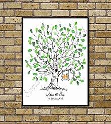 Obrazy - Svadobný strom K1 s vtáčikmi - 6446533_