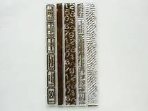 Pomôcky/Nástroje - Silikónové razítka, pečiatky - 10x20 cm - písmo, lístok, ticket - 6449115_