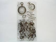 Pomôcky/Nástroje - Silikónové razítka, pečiatky - 10x20 cm - hodiny, čas, time - 6449119_