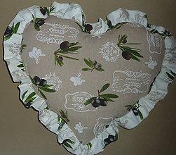Úžitkový textil - Olivy pod hlavou - 6445956_