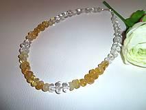 Náhrdelníky - slnko v duši náhrdelník z citrínu a kryštálu - 6445643_