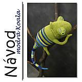 Návody a literatúra - Háčkovaný chameleon Tobi - návod - 6445929_