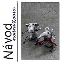 Návody a literatúra - Háčkované myšky - návod - 6445824_