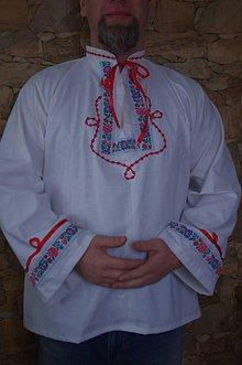 Oblečenie - ľudová pánska košeľa - 6446482_