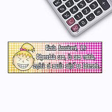 Papiernictvo - Vtipná menovka na písomku - Internet vie viac - 6448427_