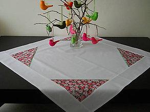 Úžitkový textil - Obrus - Ružové tulipány - 6451563_