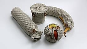 Úžitkový textil - Sada obalov na bio desiatu - 6452693_