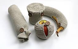 Úžitkový textil - Sada obalov na bio desiatu - 6452694_