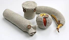 Úžitkový textil - Sada obalov na bio desiatu - 6452705_