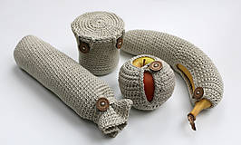 Úžitkový textil - Sada obalov na bio desiatu - 6452709_