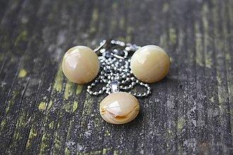 Sady šperkov - Sada šperkov zo skla - náušnice a náhrdelník(e) - 6453378_