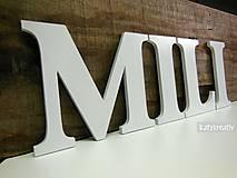 Tabuľky - 13cm drevené písmená ....MILI - 6451410_