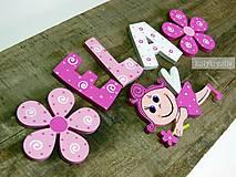 Tabuľky - drevené písmenká...Ela - 6451540_