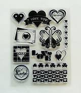 Pomôcky/Nástroje - Silikónové razítka, pečiatky - 14x18 cm - i love you, láska, srdce - 6453069_