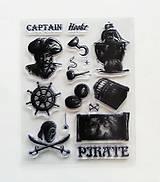 Pomôcky/Nástroje - Silikónové razítka, pečiatky - 14x18 cm -  piráti, kormidlo, smrtka - 6453136_