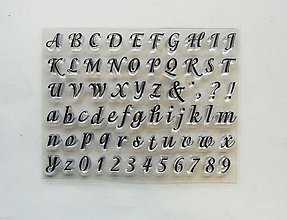 Pomôcky/Nástroje - Silikónové razítka, pečiatky - 14x18 cm - abeceda, písmo, písmená, číslo - 6453535_