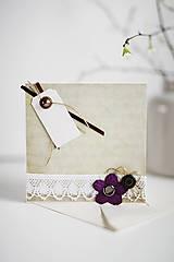 Papiernictvo - Scrapbook - romantická pohľadnica - 6452614_
