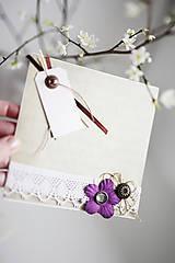 Papiernictvo - Scrapbook - romantická pohľadnica - 6452615_