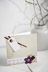 Papiernictvo - Scrapbook - romantická pohľadnica - 6452616_