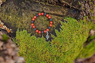 Náramky - náramok z červeného jaspisu a lávy - 6451383_