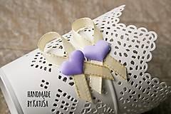 svadobné pierka lila