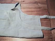 Iné oblečenie - ľanová zástera béžová - 6452280_