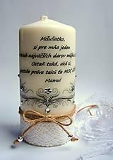 Dekoračná sviečka - jemnučký ornament
