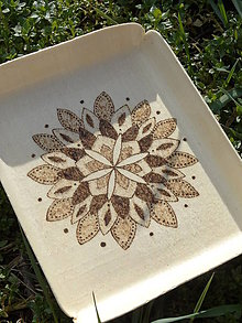 Nádoby - Svargový čarokruh 1. - drevená tácka - 6452250_
