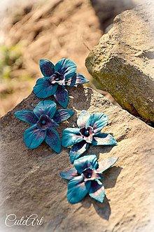 """Dekorácie - Orchidea """"tyrkysový purpur"""" - sada dekoračných kvietkov - 6451822_"""