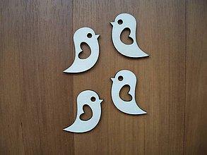 Materiál ručne robený - Vtáčik z dreva - svadobný - 6450524_