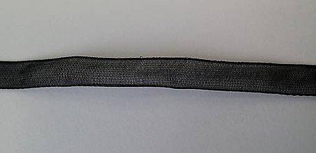 Galantéria - NAV646, STUHA Organzová 6mm ČIERNA /1m - 6450061_