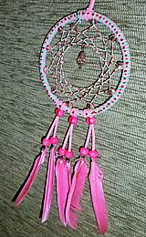 Dekorácie - Lapač snov ružový - 6453431_