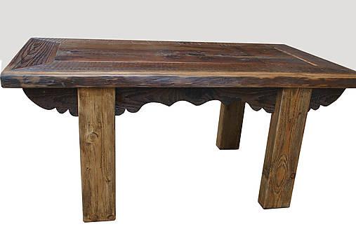 53dc1bd96989 Masívny stôl zo starého dreva   anyone - SAShE.sk - Handmade Nábytok