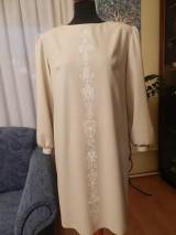 Šaty - štetcom vyšívané - béžové - 6453933_