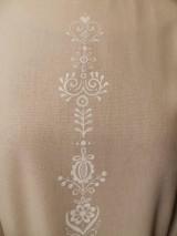 Šaty - štetcom vyšívané - béžové - 6453938_