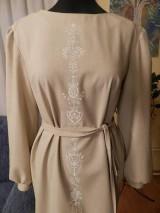 Šaty - štetcom vyšívané - béžové - 6453941_