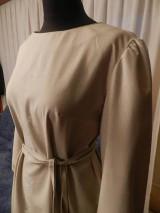 Šaty - štetcom vyšívané - béžové - 6453943_