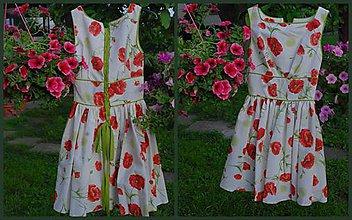 Šaty - biele makovienkové - 6454750_