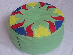 Úžitkový textil - Meditačný podsedák alebo vankúš - kiwi - 6454494_