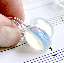 Náušnice - Opalite & Silver / Náušnice s opalitom v striebornom prevedení - 6454878_
