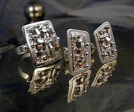 Sady šperkov - abakus - prsteň a náušnice ag 925 - 6454529_