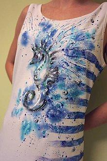 Šaty - more, leto, dovolenka - maľba na šatách - 6458479_