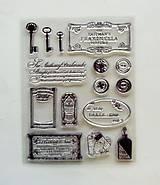 Pomôcky/Nástroje - Silikónové razítka, pečiatky - 14x18 cm -  kľúče, ornamenty, gombík - 6455929_