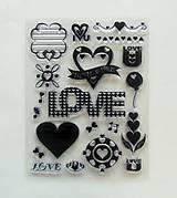 Pomôcky/Nástroje - Silikónové razítka, pečiatky - 14x18 cm - love, láska, srdce, srdiečko - 6455954_