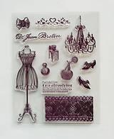 Pomôcky/Nástroje - Silikónové razítka, pečiatky - 14x18 cm - luster, čipka, parfém, nostalgia - 6456233_